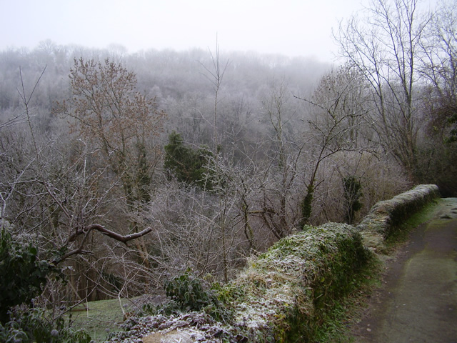 Toadsmoor Valley in the winter